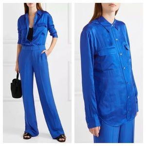 Equipment Signature Blue Satin Shirt